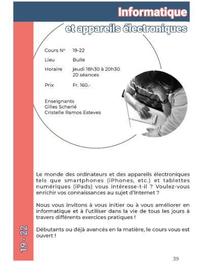 19-22 Informatique et appareils électroniques