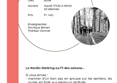 18-25 Nordic Walking et photo