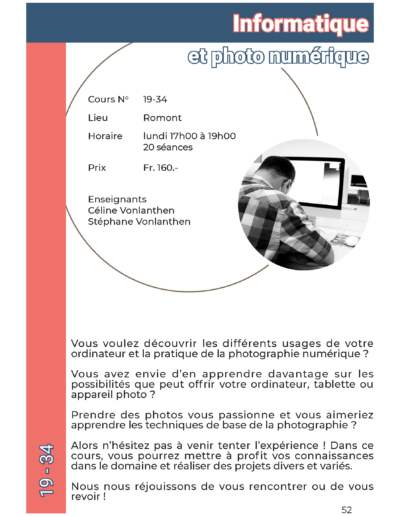 19-34 Informatique et photo numérique